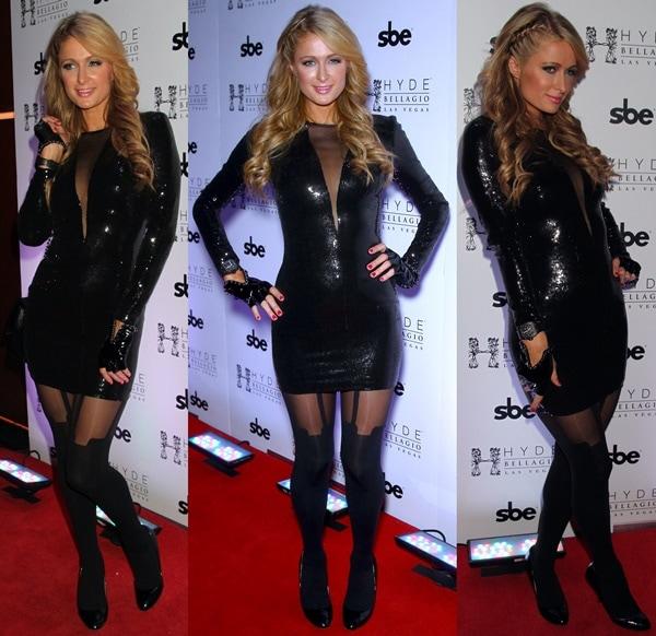 Paris Hilton DJs At Hyde Nightclub