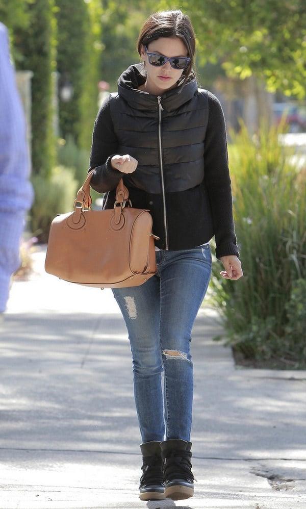 Rachel Bilson wearing ripped jeans