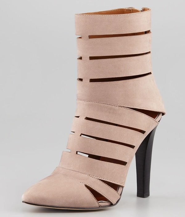 Rebecca Minkoff Debra Cutout Leather Booties