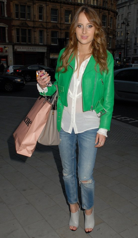 Rosie Fortescue at the launch party for the Odabasj and Macdonald collection