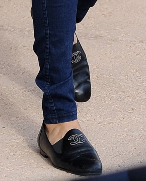 Selena Gomez wearing Chanel flats