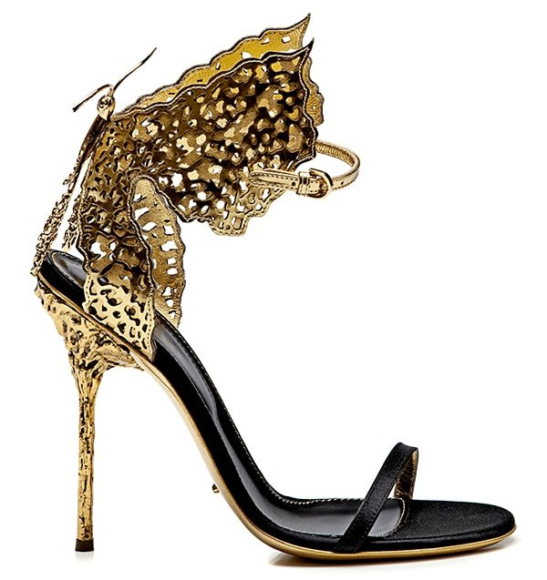 Sergio Rossi Butterfly Cutout Sandals