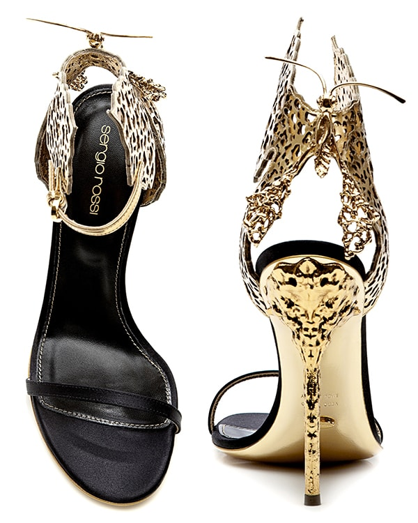 Sergio Rossi Butterfly Cutout Sandals2