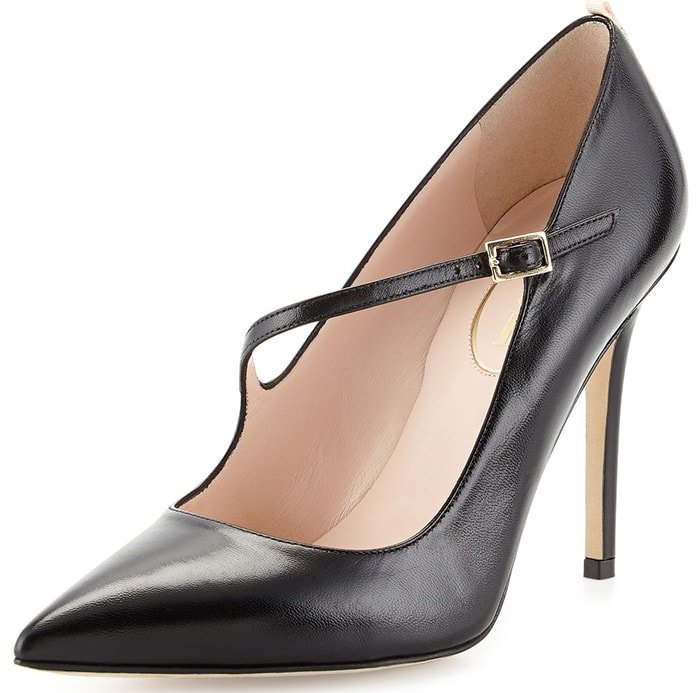 Black SJP by Sarah Jessica Parker 'Diana' Asymmetric Leather Pumps
