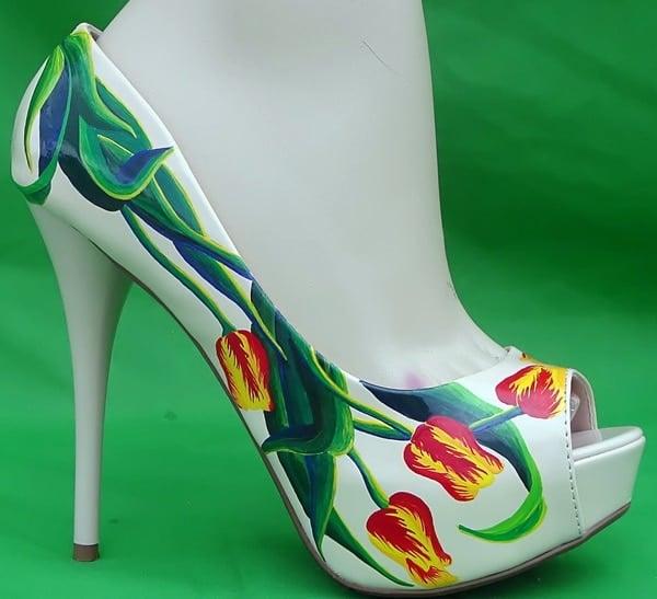 Stunning Shoe Designs by Tattoo Tina