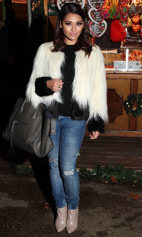 Vanessa White wearing ripped jeans