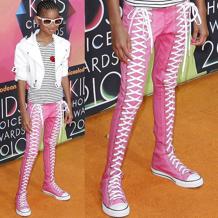 Willow Smith Converse Extension sneaker pants