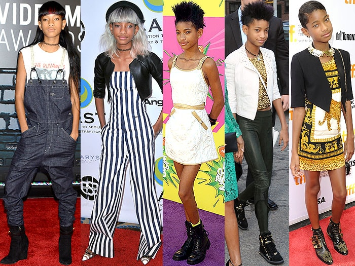 Willow Smith at the 2013 MTV Video Music Awards at the Barclays Center in Brooklyn, New York, on August 26, 2013; at the 15th Annual