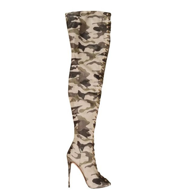 ZigiNY Piarry Boots in Camo Snakeskin