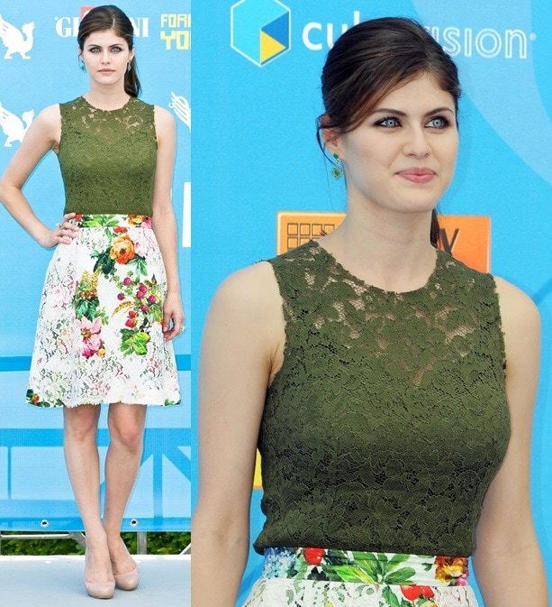 Alexandra Daddario at the photo call for 'Percy Jackson: Sea of Monsters' at the Giffoni Festival Experience in Italy on July 23, 2013