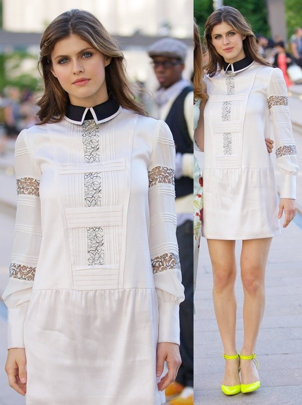 Alexandra Daddario on day 1 of New York Fashion Week in New York on September 5, 2013
