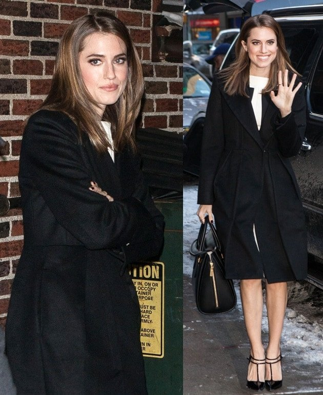 Allison Williams on her way to the 'Late Show with David Letterman' studio in New York City on January 22, 2014