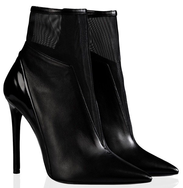 Barbara Bui Mesh-Detailed Ankle Boots