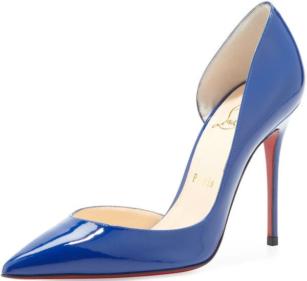 "Christian Louboutin ""Iriza"" Pumps in Neptune Patent Leather"