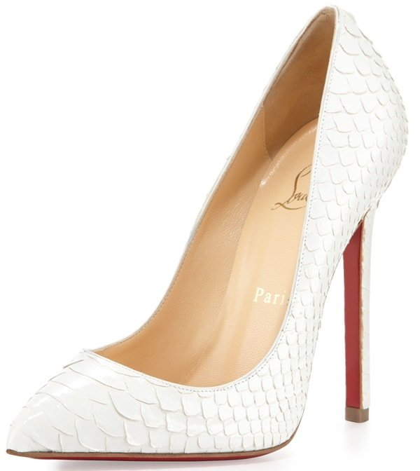 christian louboutin pigalle python point toe pumps 3