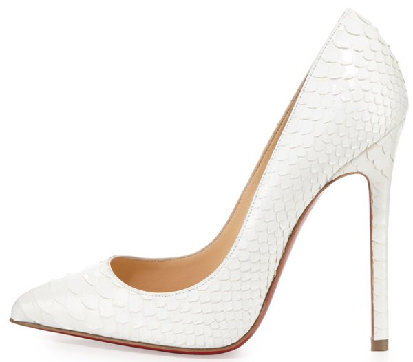 christian louboutin pigalle python point toe pumps