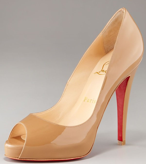 Christian Louboutin Very Prive Peep-Toe Pumps