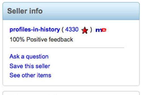 eBay seller info