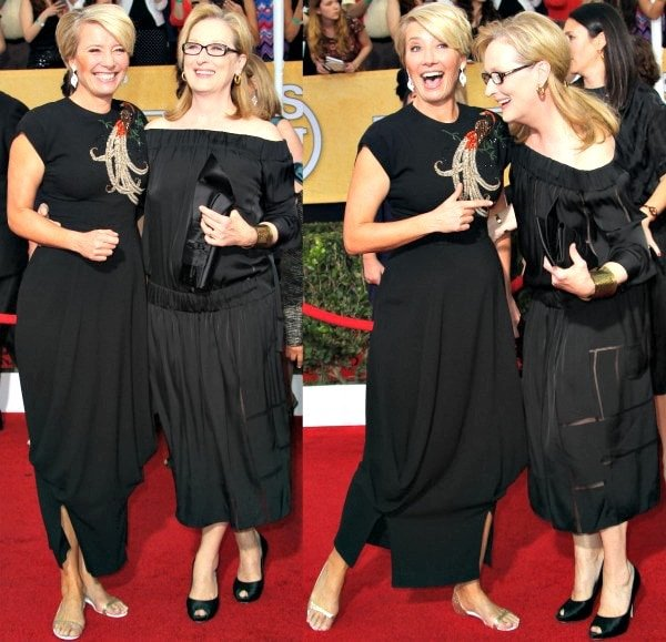 Emma Thompson and Meryl Streep at the 20th Annual Screen Actors Guild (SAG) Awards held at the Shrine Auditorium in Los Angeles, California, on January 19, 2014