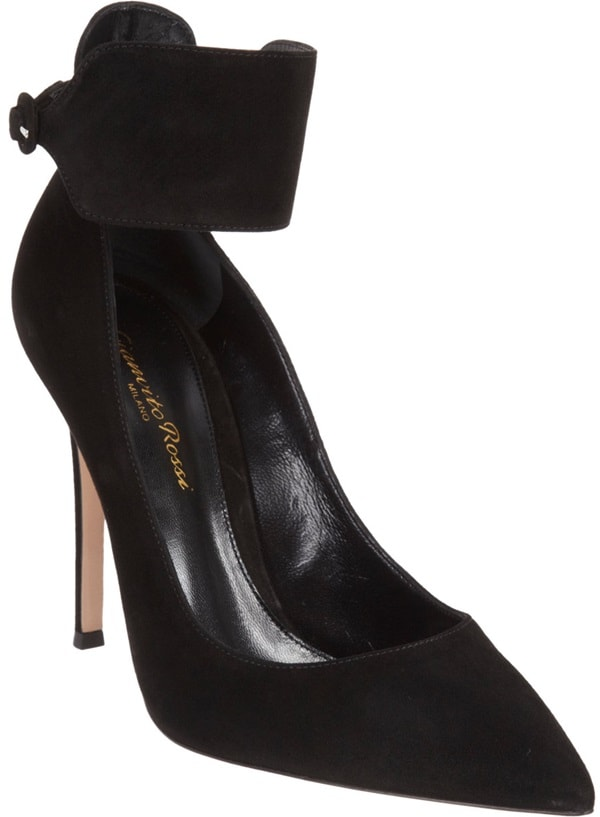 Gianvito Rossi Suede Ankle-Cuff Pumps