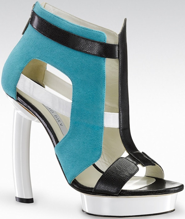 """Gio Diev """"Essen"""" Cage Booties"""