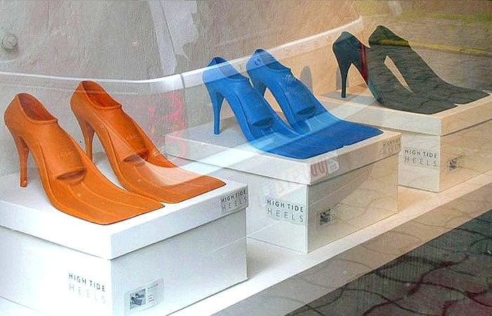 high heel flippers