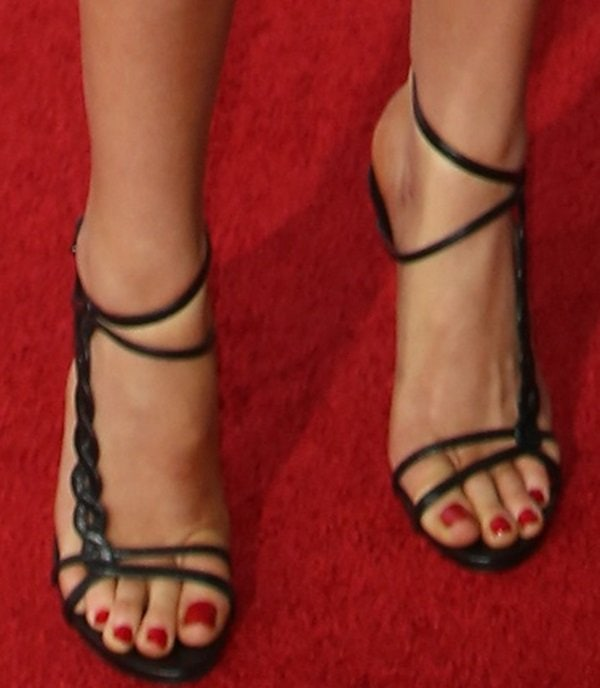 Ireland Baldwin in sexy strappy sandals from Casadei