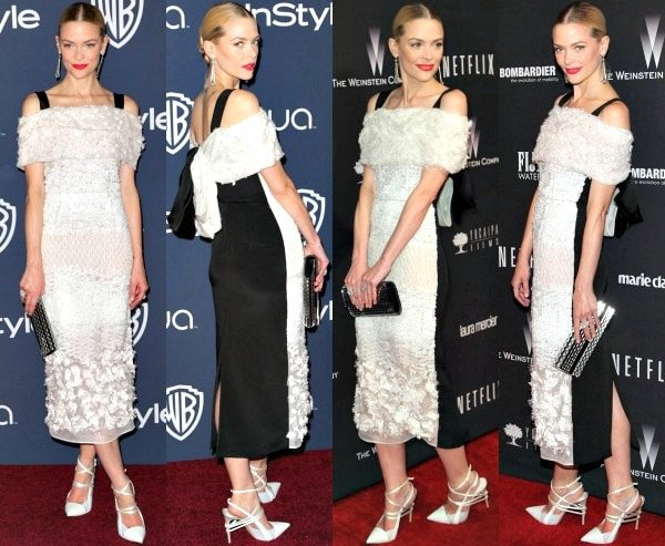 Jaime King at the 15th Annual Warner Bros. and InStyle Golden Globe Awards after-party and at The Weinstein Company and Netflix 2014 Golden Globes after-party in Los Angeles, California, on January 12, 2014