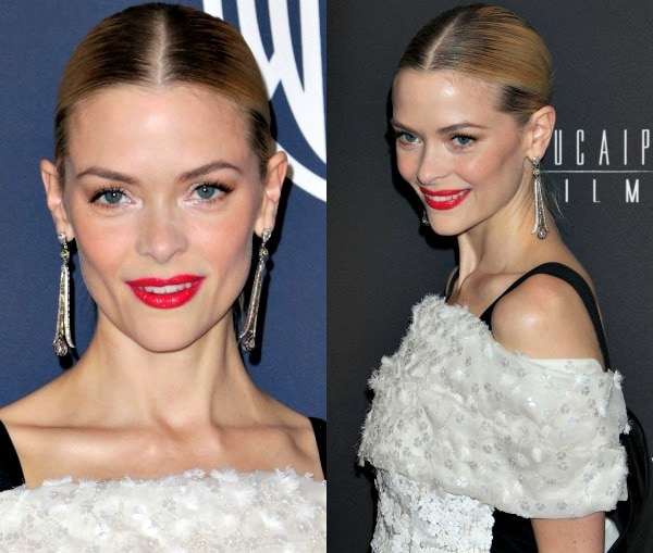 Jaime King'sstatement earrings from Sethi Couture