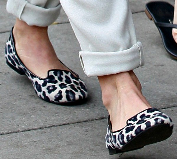 Julianne Hough's loafers in leopard print from Ann Taylor