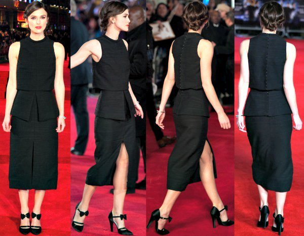 Keira Knightley in an all-black outfit from Proenza Schouler's Spring 2014 collection