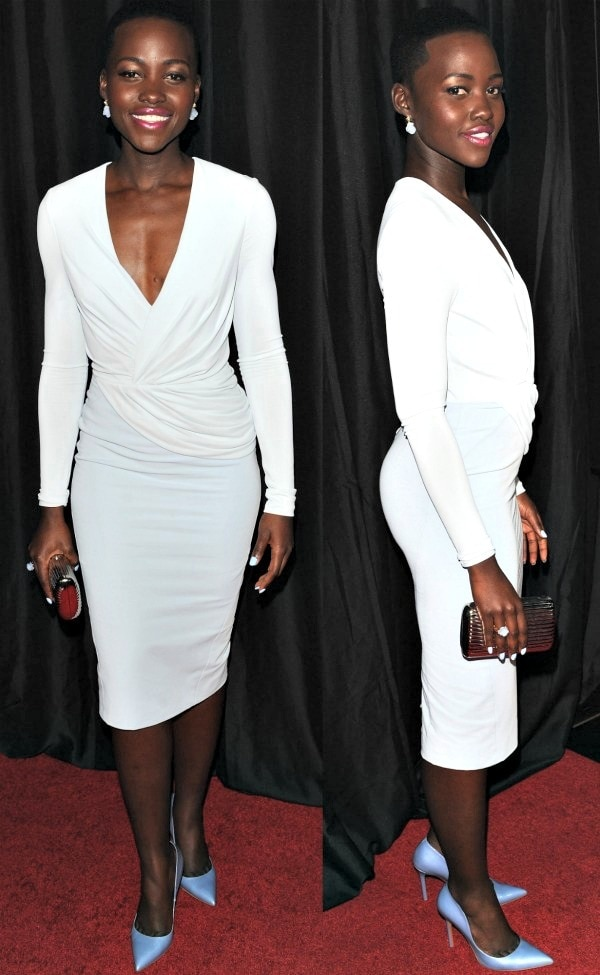 Lupita Nyong'o at the 39th Annual Los Angeles Film Critics Association Awards held at InterContinental Hotel in Century City, California, on January 11, 2014