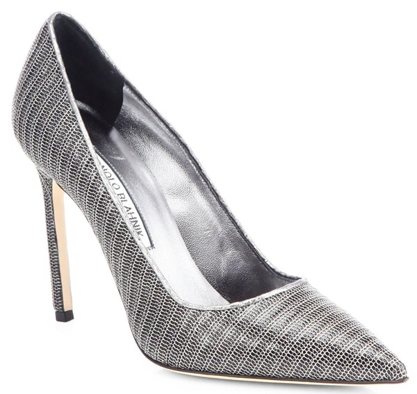 Manolo Blahnik Metal Mesh BB Pumps