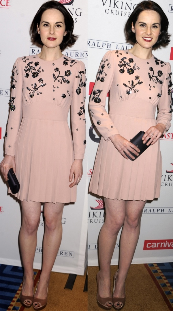Michelle Dockery at a photo call for Downton Abbey held at the Millennium Hotel in New York City on December 10, 2013