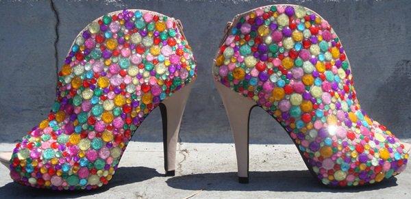 mixed acrylic shoes