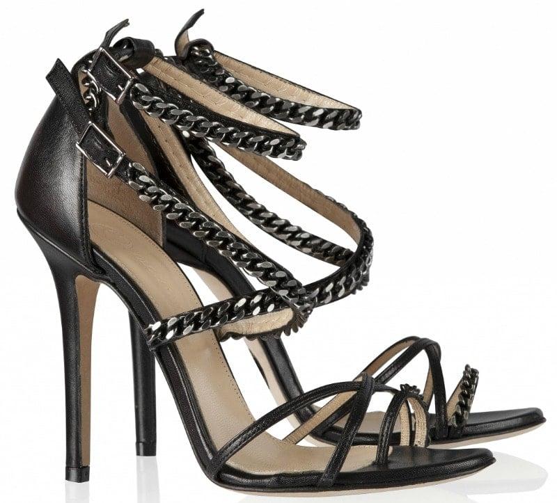 Olcay Gulsen Chain Strap Sandals