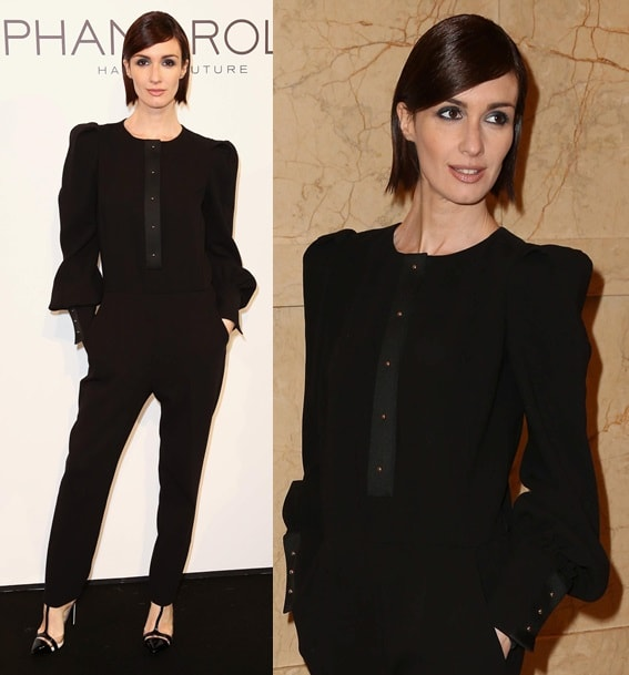 Paz Vega went for a sleek and sophisticated masculine-feminine look for the Chanel show