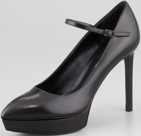 "Saint Laurent ""Janis"" Mary Jane Pumps in Black"