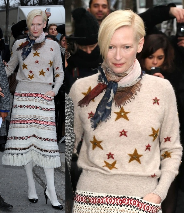 We love Tilda Swinton, but we can't say the same for the outfit she wore during the Chanel show