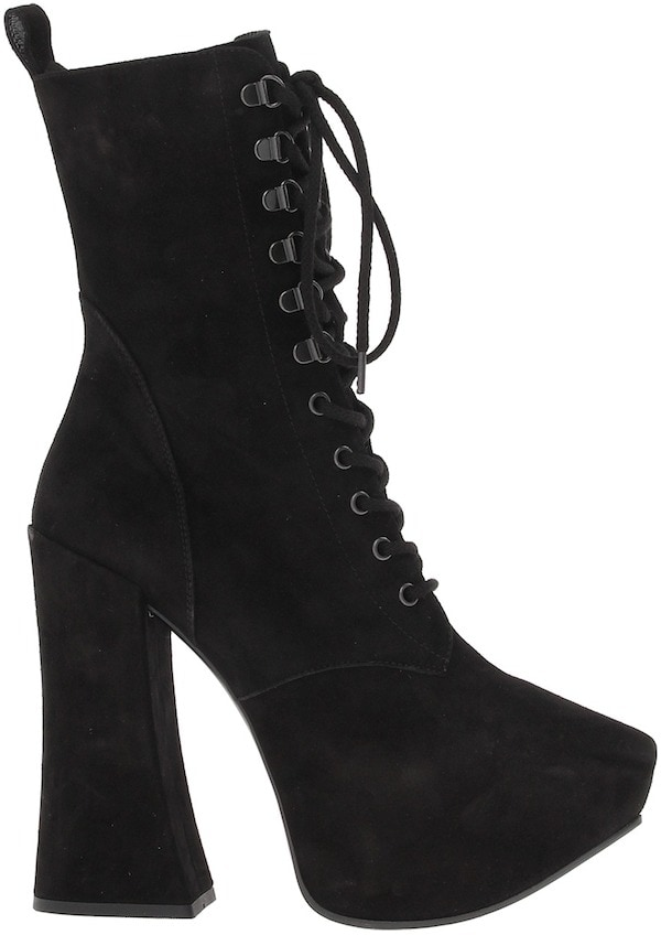 Vivienne Westwood Gold Label Lace-Up Boots in Black Suede