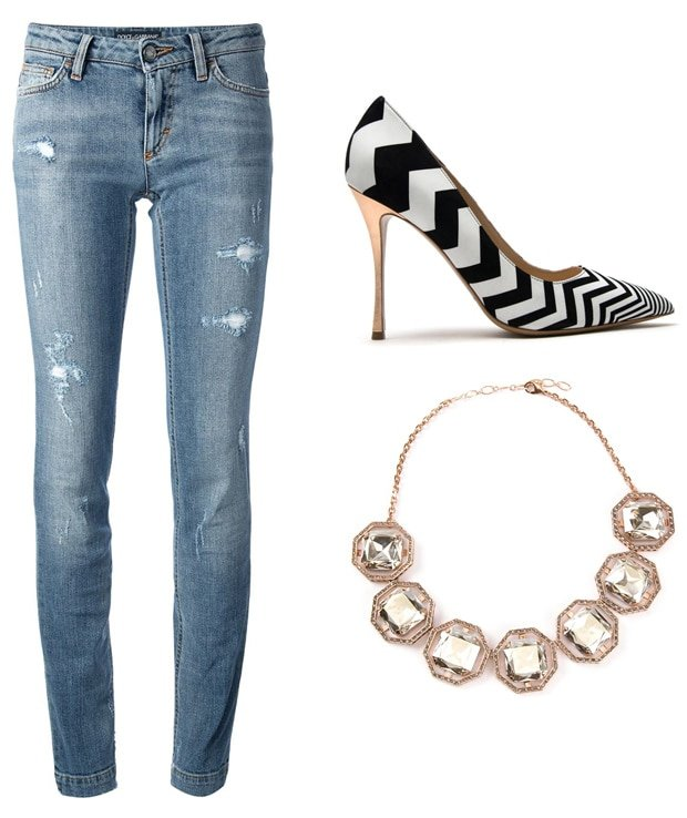 Wear boyfriend jeans or distressed skinny jeans with your V-neck camisole top