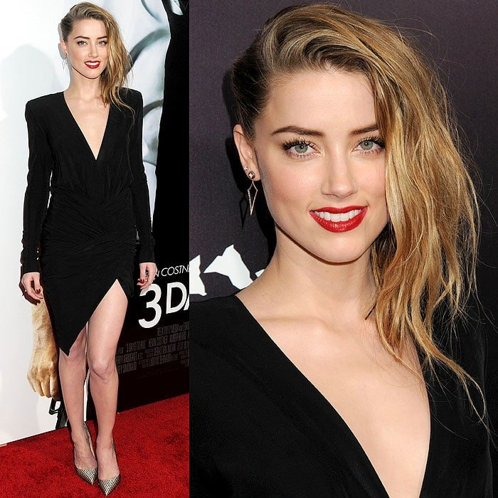 Amber Heard wearing a daring Alexandre Vauthier Spring 2014 LBD