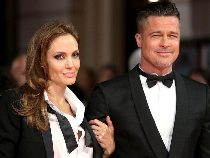 Angelina Jolie Brad Pitt tuxedos BAFTAs (2)