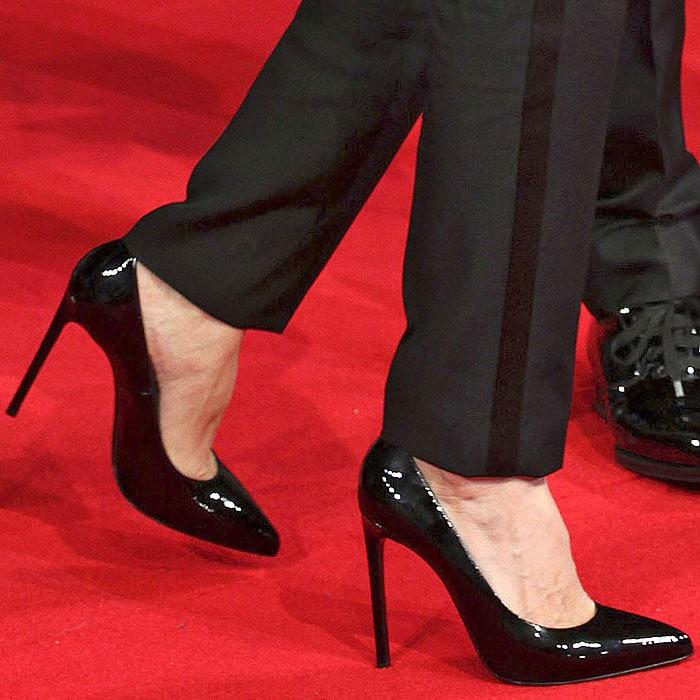 Angelina Jolie Saint Laurent pumps tuxedo