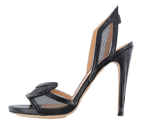 Aperlai Spokette Sandals Black Croc