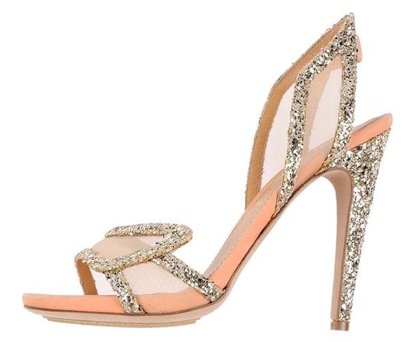 Aperlai Spokette Sandals Glitter Platinum