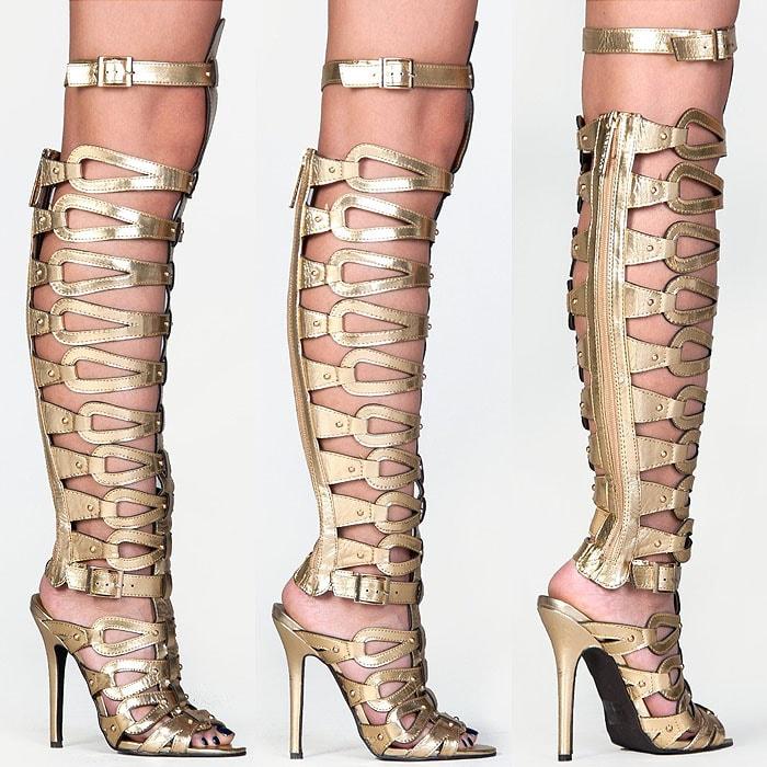 Breckelles DIVA-22 tall gladiator sandals