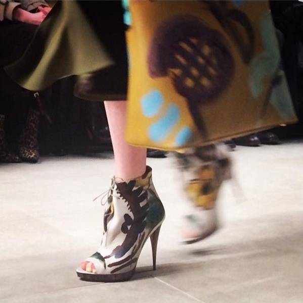 Burberry Prorsum Fall 2014 hand-painted ankle boots