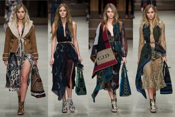 Burberry Prorsum Fall 2014 show in London, England, on February 17, 2014