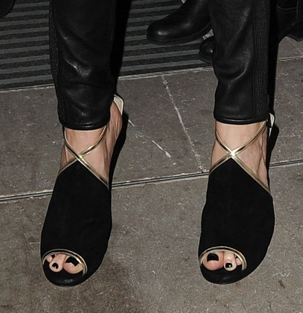 Cat Deeley's feet in Jimmy Choo sandals